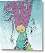 Hair Is A Tree Metal Print