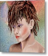 Hairstyle Of Colors Metal Print