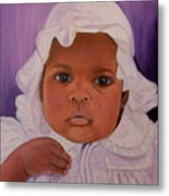 Haitian Baby Orphan Metal Print