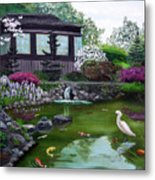 Hakone Gardens Pond In The Spring Metal Print