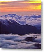 Maui Hawaii Haleakala National Park Golden Dawn Metal Print