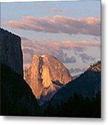 Half Dome Mountain At Sunset, Yosemite Metal Print