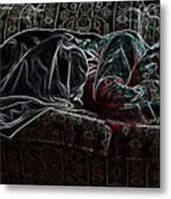 Halfabaskan Sleeping Metal Print
