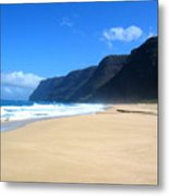 Hali Pale Beach  Kauai  Hawaii Metal Print