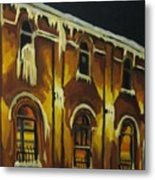 Halifax Ale House In Ice Metal Print