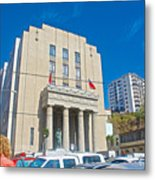 Hall Of Justice In Valparaiso-chile  Metal Print