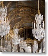 Hall Of Mirrors Palace Of Versailles France Metal Print