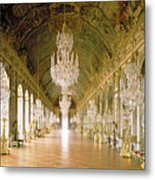 Hall Of Mirrors  The Galerie Des Glaces Metal Print