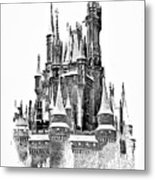 Hall Of The Snow King Monochrome Metal Print