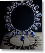 Hall Sapphire And Diamond Necklace Metal Print