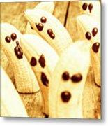 Halloween Banana Ghosts Metal Print