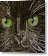 Halloween Black Cat I Metal Print