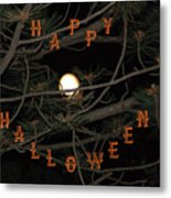Halloween Card Metal Print