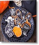 Halloween Cookies Metal Print