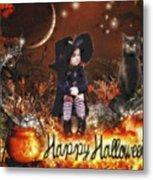 Halloween Girl Metal Print