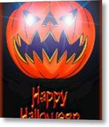 Halloween Greeting Card Metal Print
