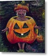 Halloween Hog Metal Print