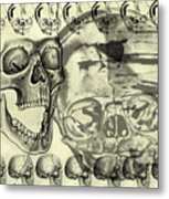 Halloween In Grunge Style Metal Print