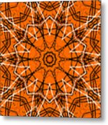 Halloween Kaleidoscope 12 Metal Print