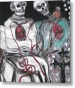 Halloween Love Metal Print