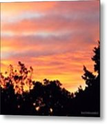 #halloween #morning #sky Is On #fire Metal Print