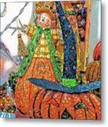 Halloween Scarecrow And Pumpkin Pa 02 Vertical Metal Print