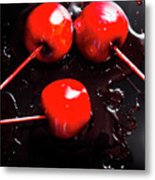 Halloween Toffee Apples Metal Print