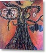 Halloween Tree Metal Print