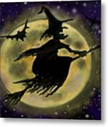 Halloween Witch Metal Print