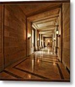Hallway In City Hall Sf Metal Print