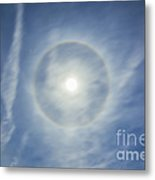Halo Around Full Moon In A Sky Metal Print