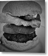 Hamburger And Potato Salad 4 Metal Print