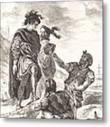 Hamlet And Horatio Before The Gravediggers (act V, Scene I) Metal Print