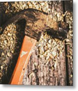 Hammer Details In Carpentry Metal Print
