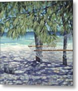 Hammock For Two Metal Print by Danielle  Perry