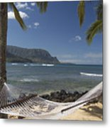 hammock in Paradise Metal Print