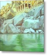 Hampi On Tungabadra 2 Metal Print