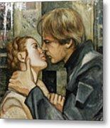 Han And Leia Metal Print