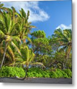 Hana Palm Tree Grove Metal Print by Inge Johnsson