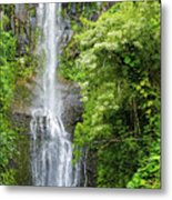Hana Waterfall Metal Print