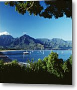 Hanalei Bay Boats Metal Print
