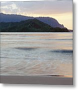 Hanalei Bay Evening Metal Print