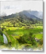 Hanalei Valley Metal Print