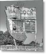Hancock Gas Sign Metal Print