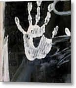 Hand In Window Picacho Arizona 2004 Metal Print