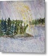 Hand Of God Storm Over Lake Jordan Metal Print
