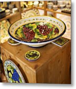 Hand Painted Dishes Metal Print