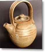Hand Thrown Teapot Metal Print