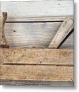 Hand Tool - Old Wood Planer Metal Print