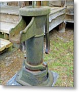 Hand Water Pump Metal Print